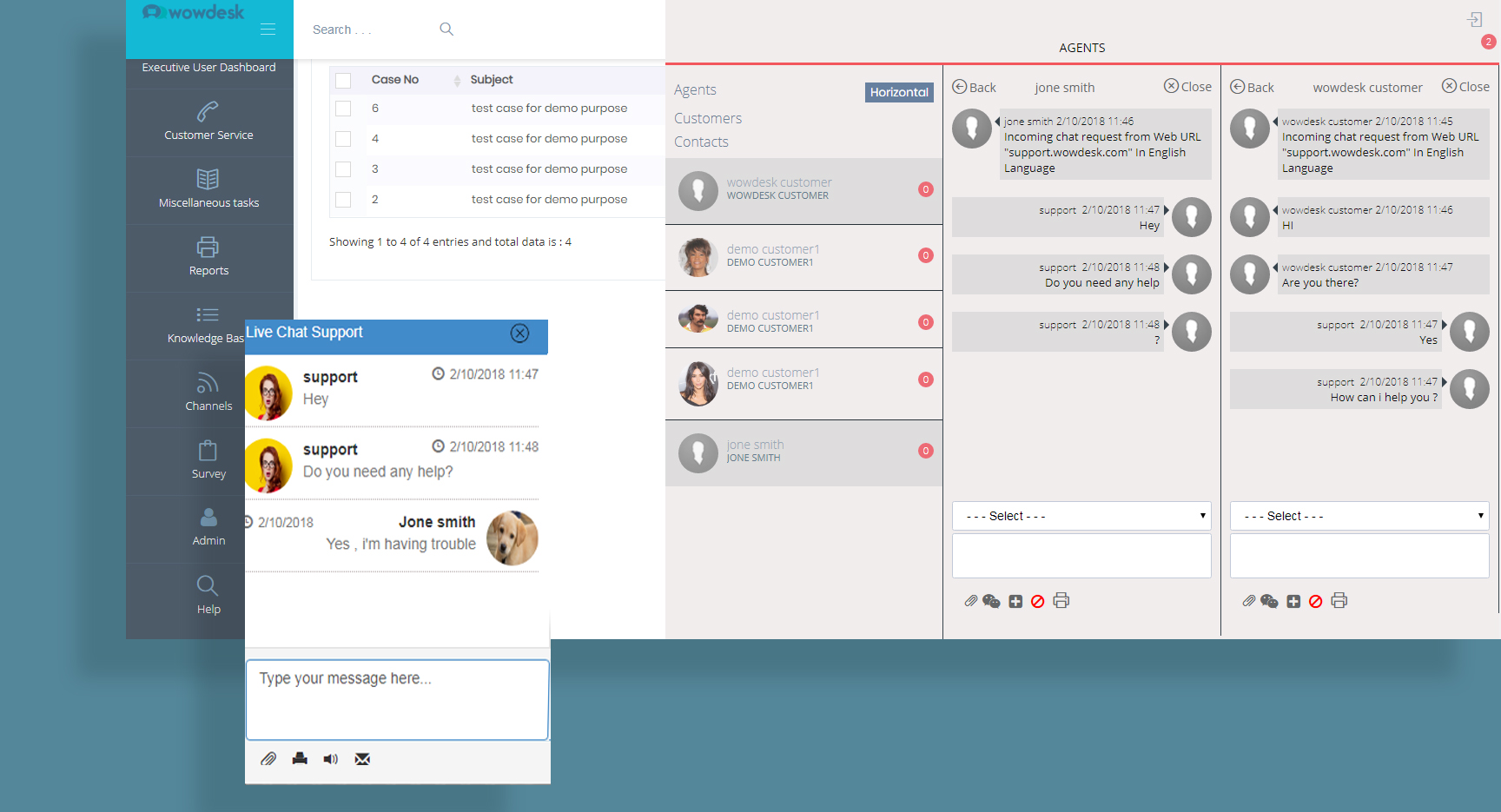 live chat support platform wowdesk